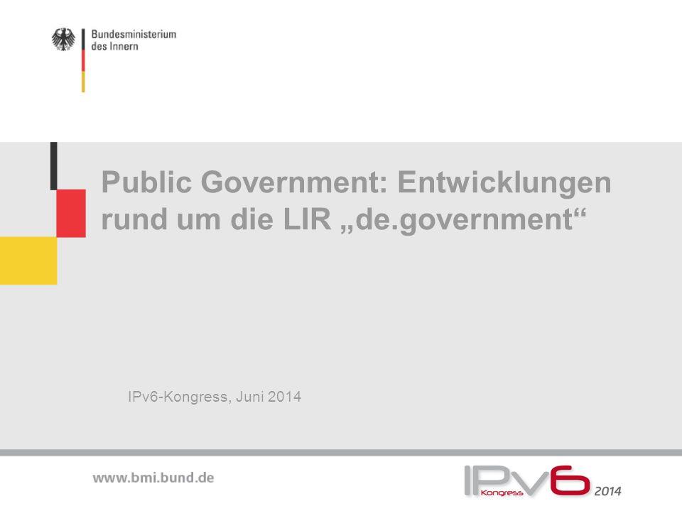 """Public Government: Entwicklungen rund um die LIR """"de.government"""
