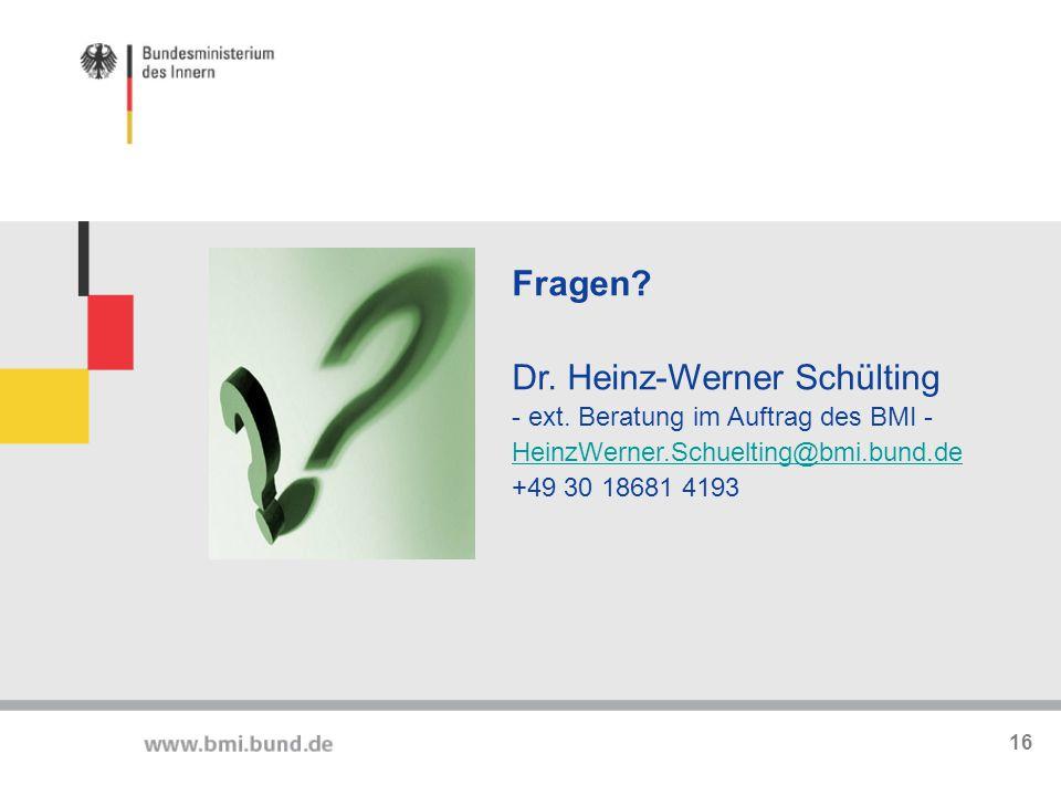 Dr. Heinz-Werner Schülting