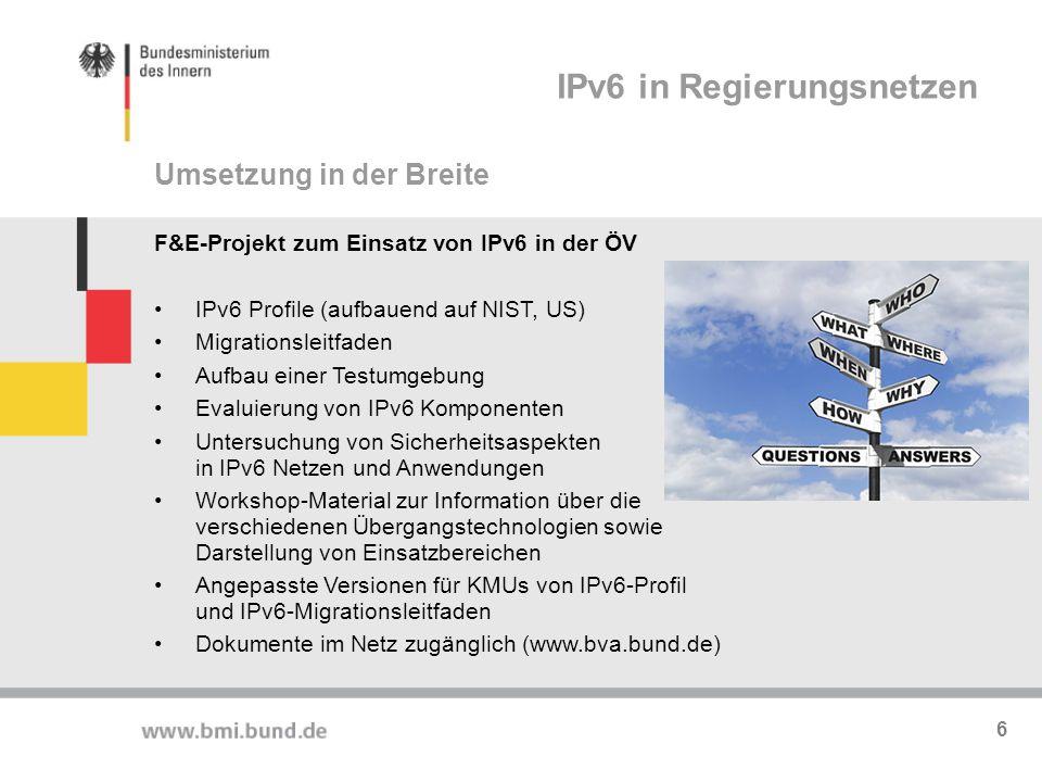 IPv6 in Regierungsnetzen
