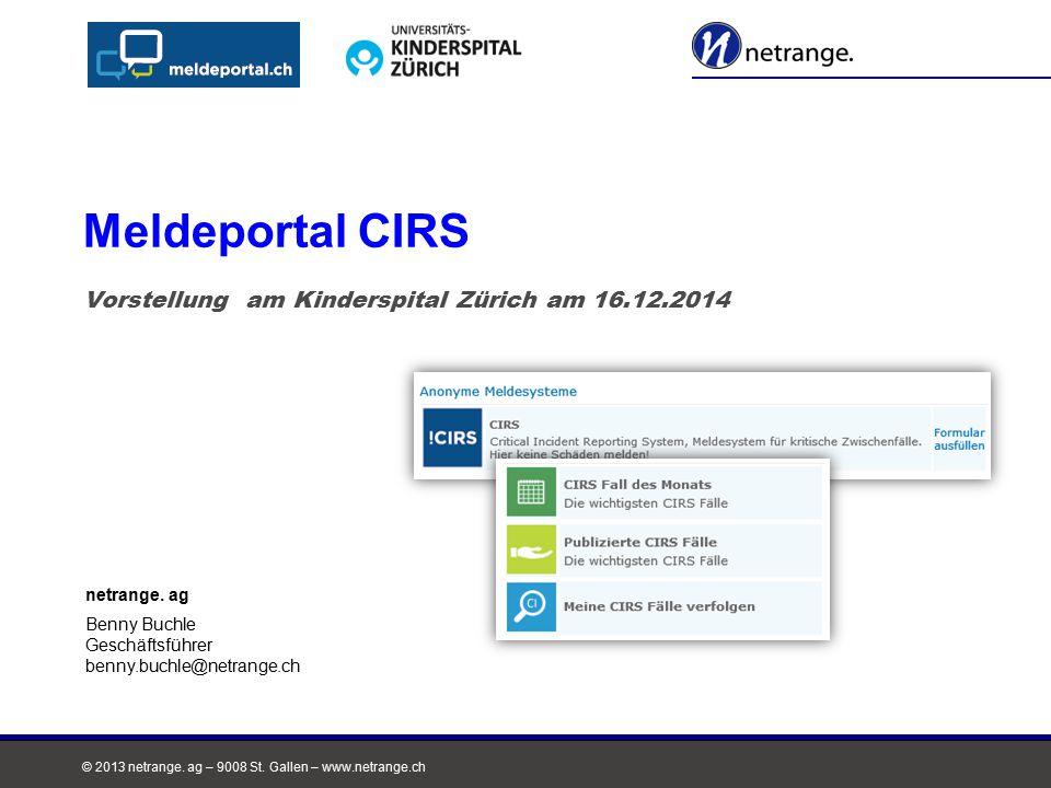 Vorstellung am Kinderspital Zürich am 16.12.2014