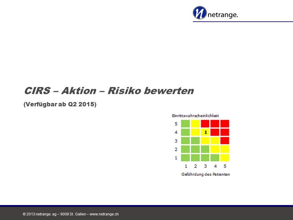 CIRS – Aktion – Risiko bewerten (Verfügbar ab Q2 2015)