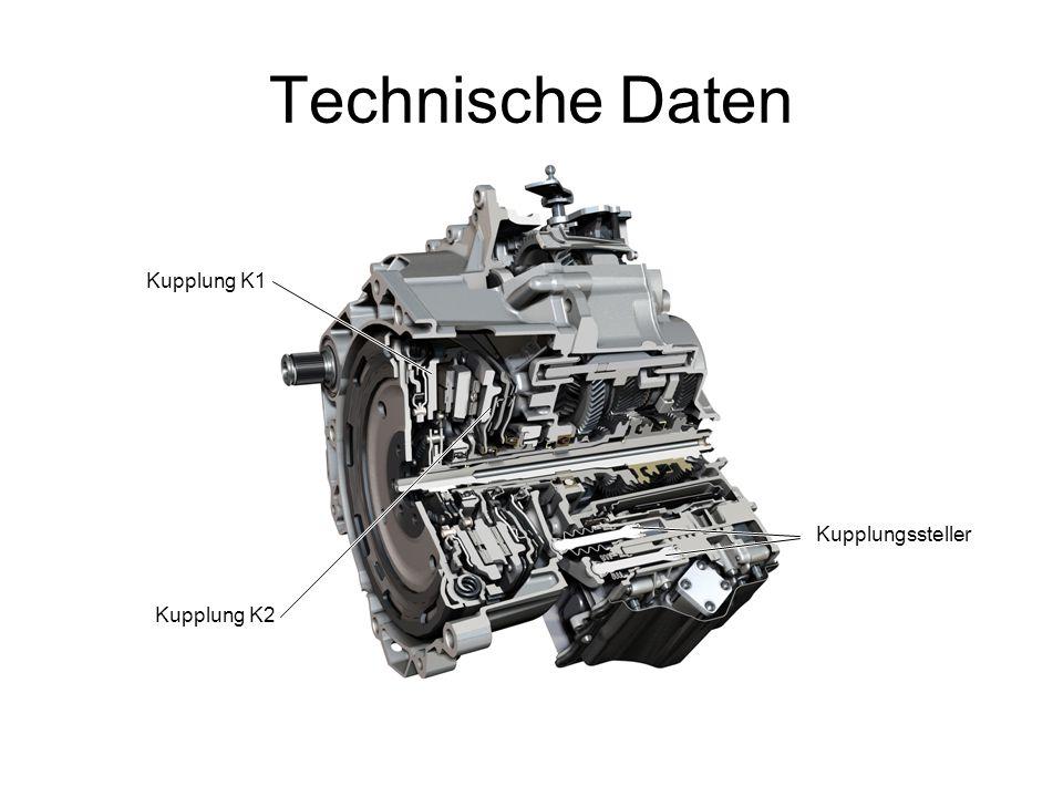 Technische Daten Kupplung K1 Kupplungssteller Kupplung K2