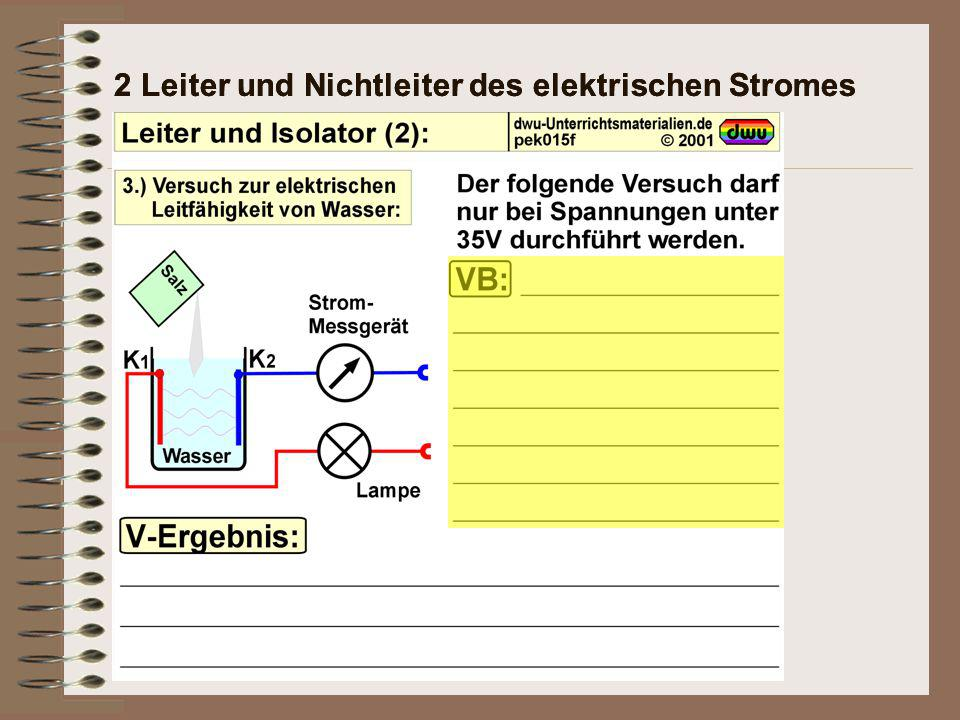 2 Leiter und Nichtleiter des elektrischen Stromes