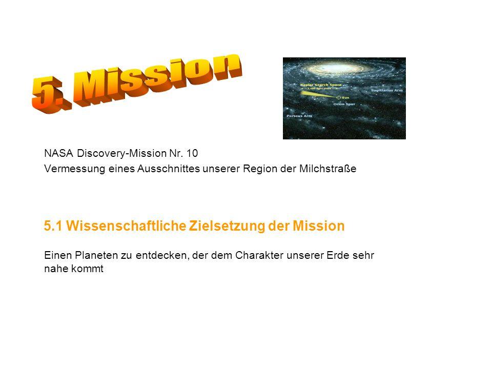 5. Mission 5.1 Wissenschaftliche Zielsetzung der Mission