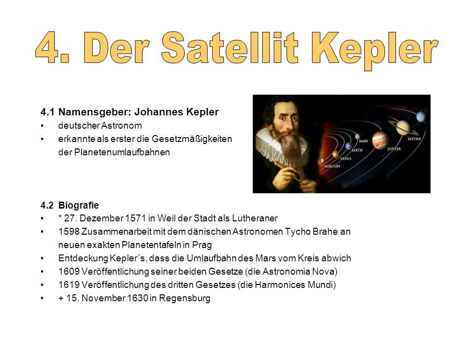 4. Der Satellit Kepler 4.1 Namensgeber: Johannes Kepler