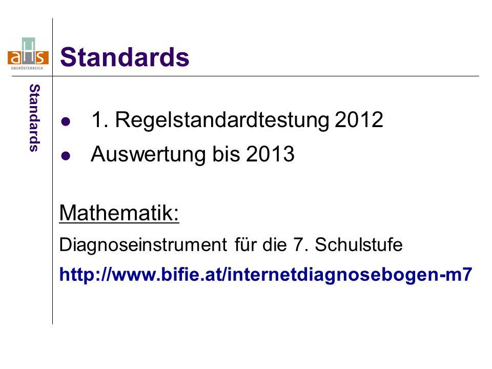 1. Regelstandardtestung 2012 Auswertung bis 2013
