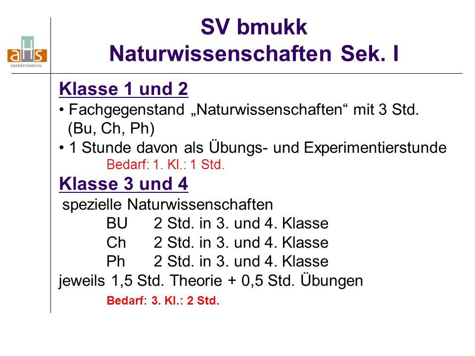 SV bmukk Naturwissenschaften Sek. I
