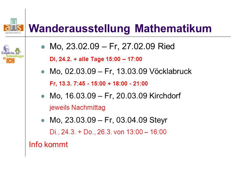 Wanderausstellung Mathematikum