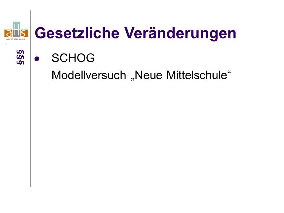 """SCHOG Modellversuch """"Neue Mittelschule"""