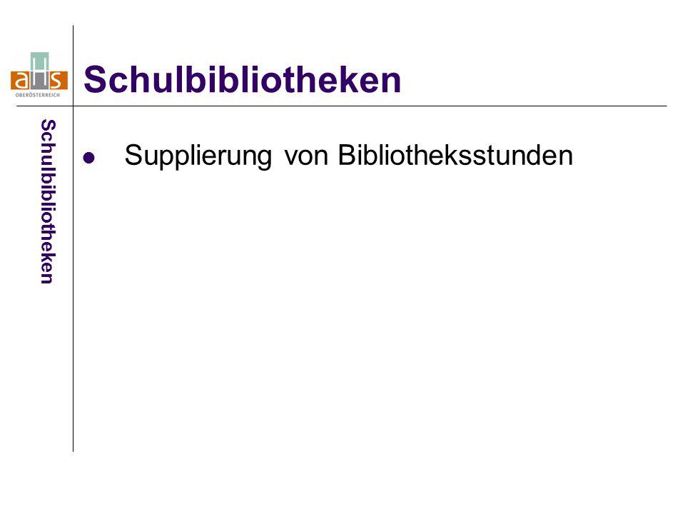 Supplierung von Bibliotheksstunden