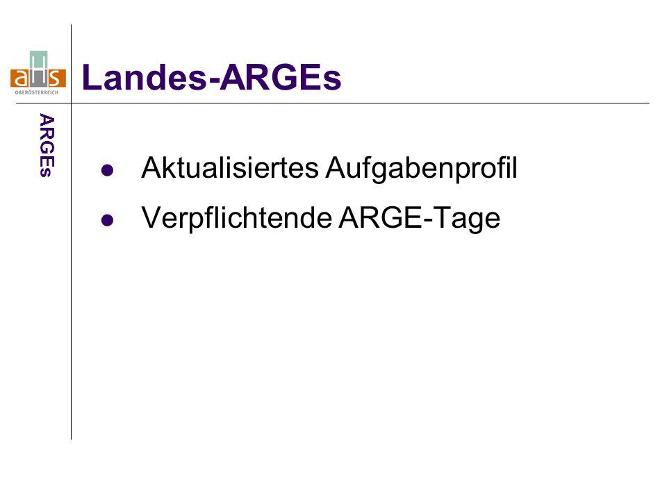 Aktualisiertes Aufgabenprofil Verpflichtende ARGE-Tage