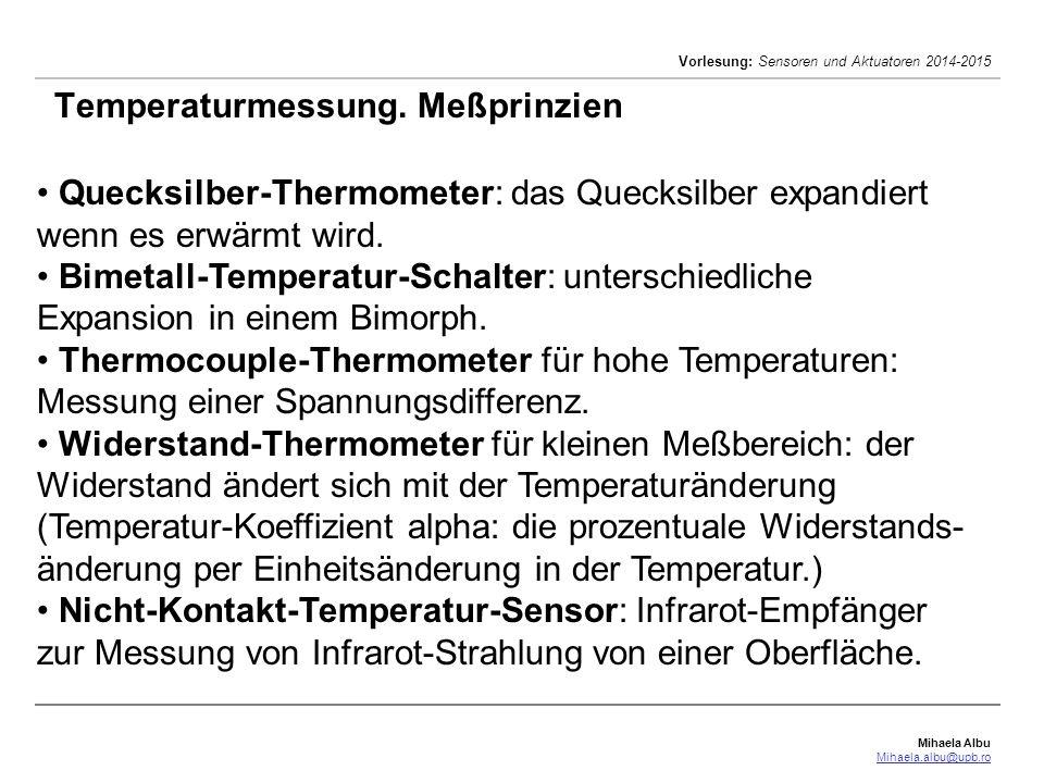 Temperaturmessung. Meßprinzien