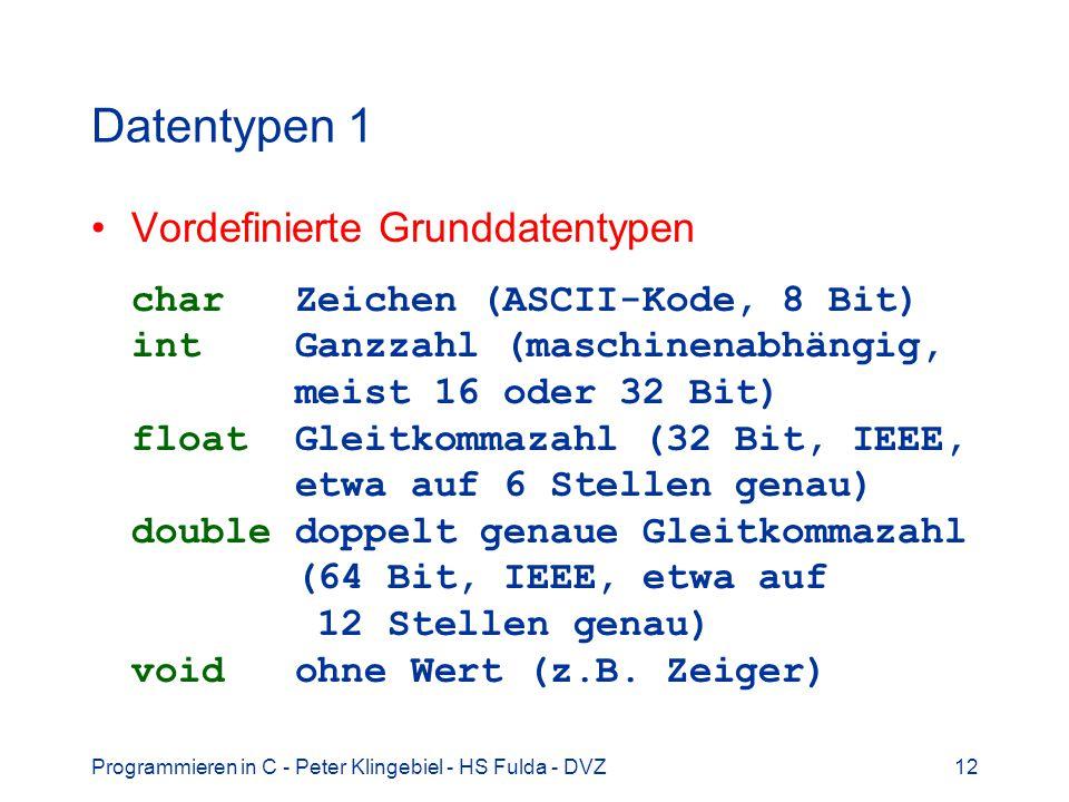 Datentypen 1