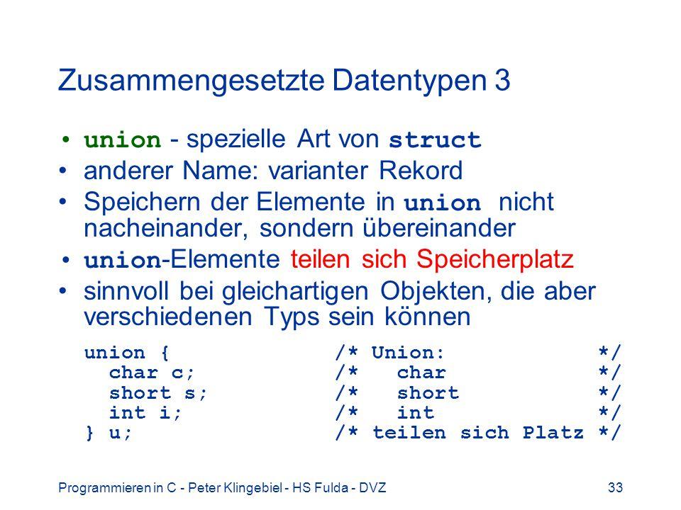 Zusammengesetzte Datentypen 3