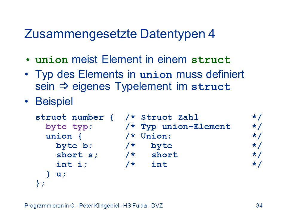 Zusammengesetzte Datentypen 4