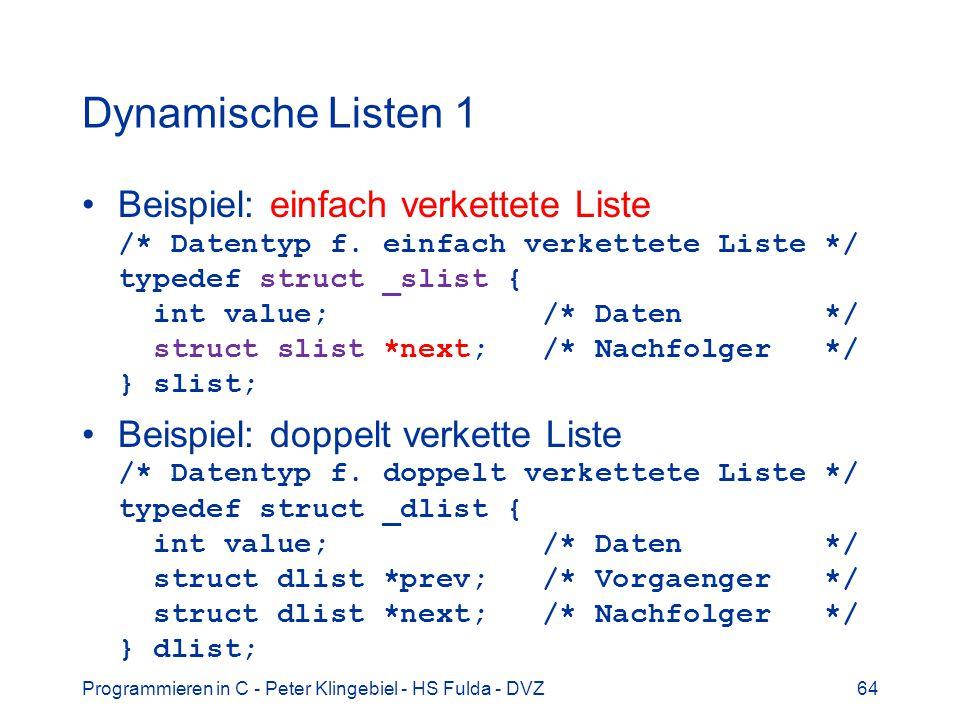 Dynamische Listen 1