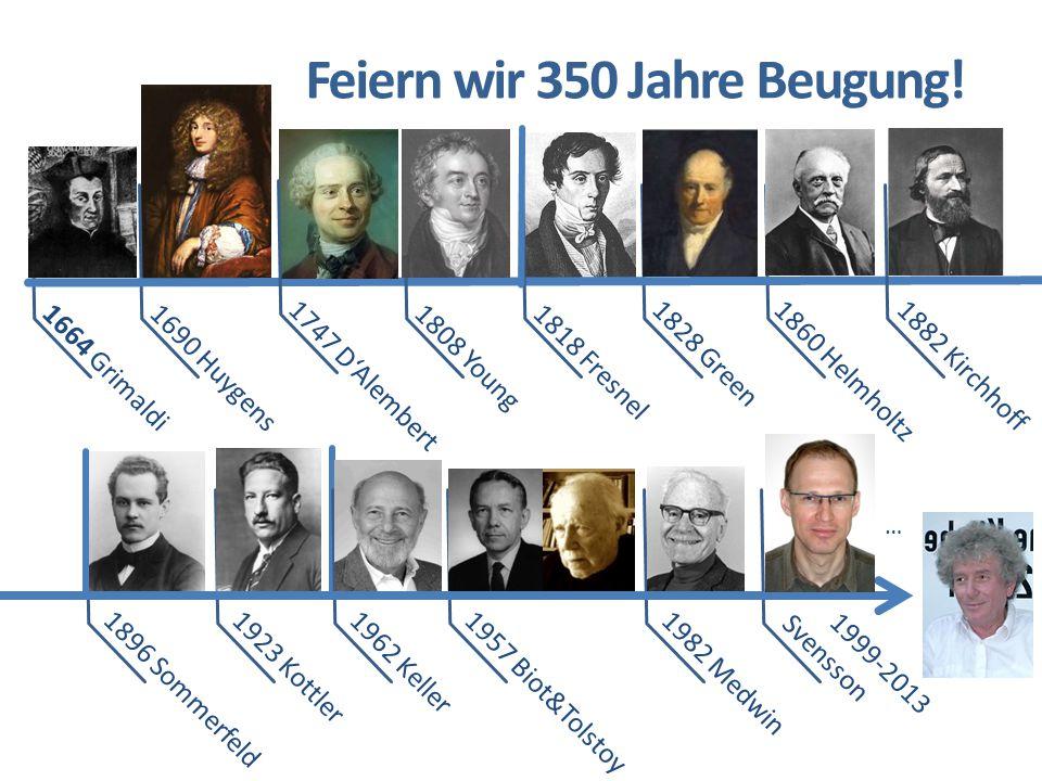Feiern wir 350 Jahre Beugung!