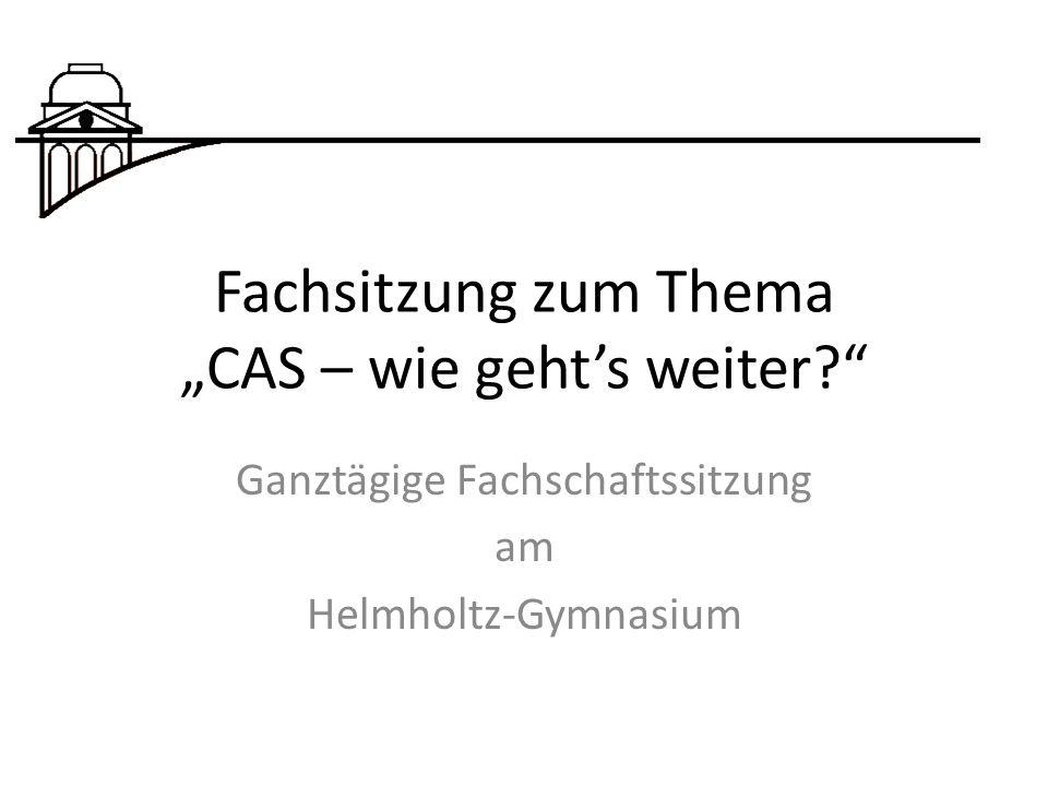 """Fachsitzung zum Thema """"CAS – wie geht's weiter"""