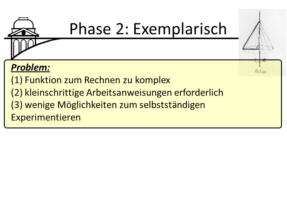 Phase 2: Exemplarisch Problem: (1) Funktion zum Rechnen zu komplex