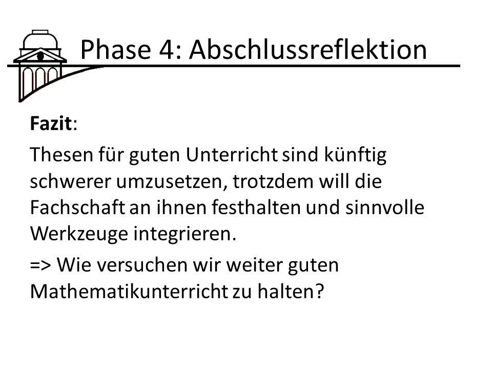 Phase 4: Abschlussreflektion