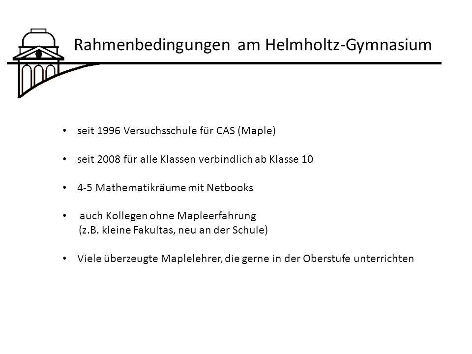 Rahmenbedingungen am Helmholtz-Gymnasium