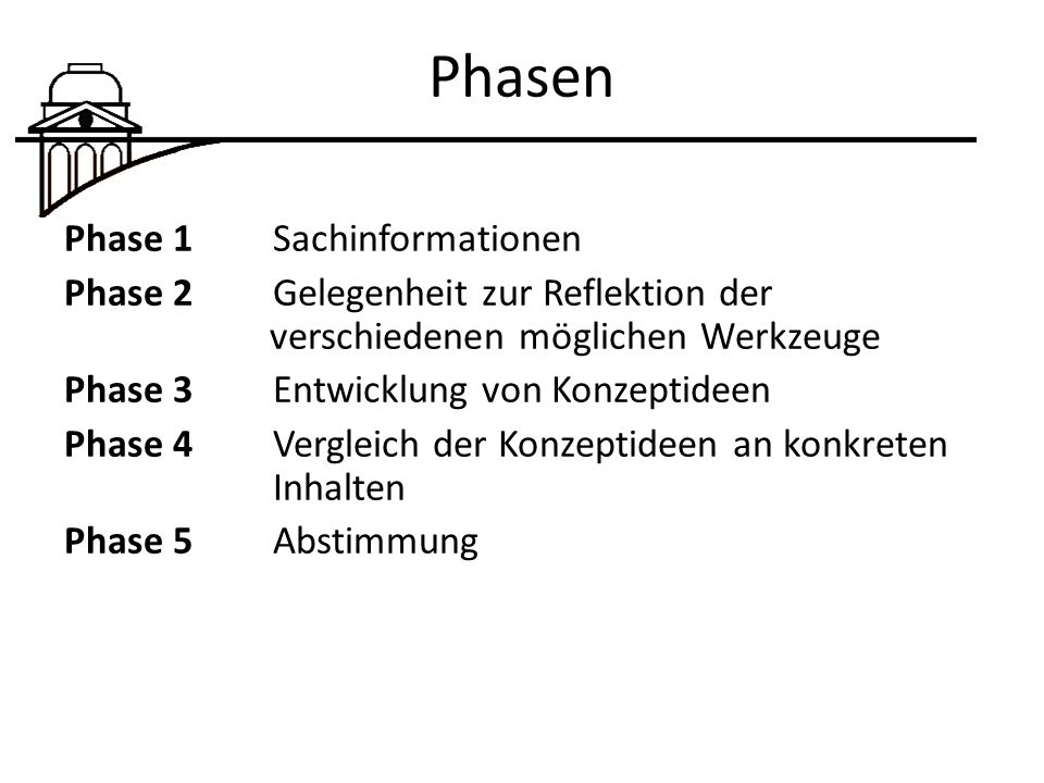 Phasen Phase 1 Sachinformationen