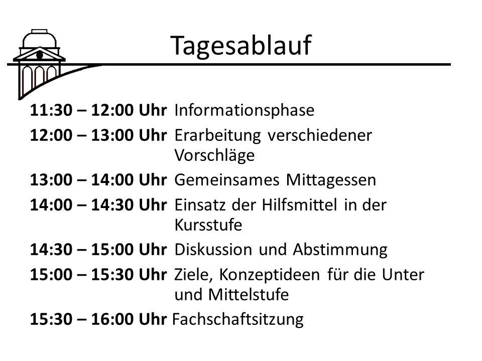 Tagesablauf 11:30 – 12:00 Uhr Informationsphase