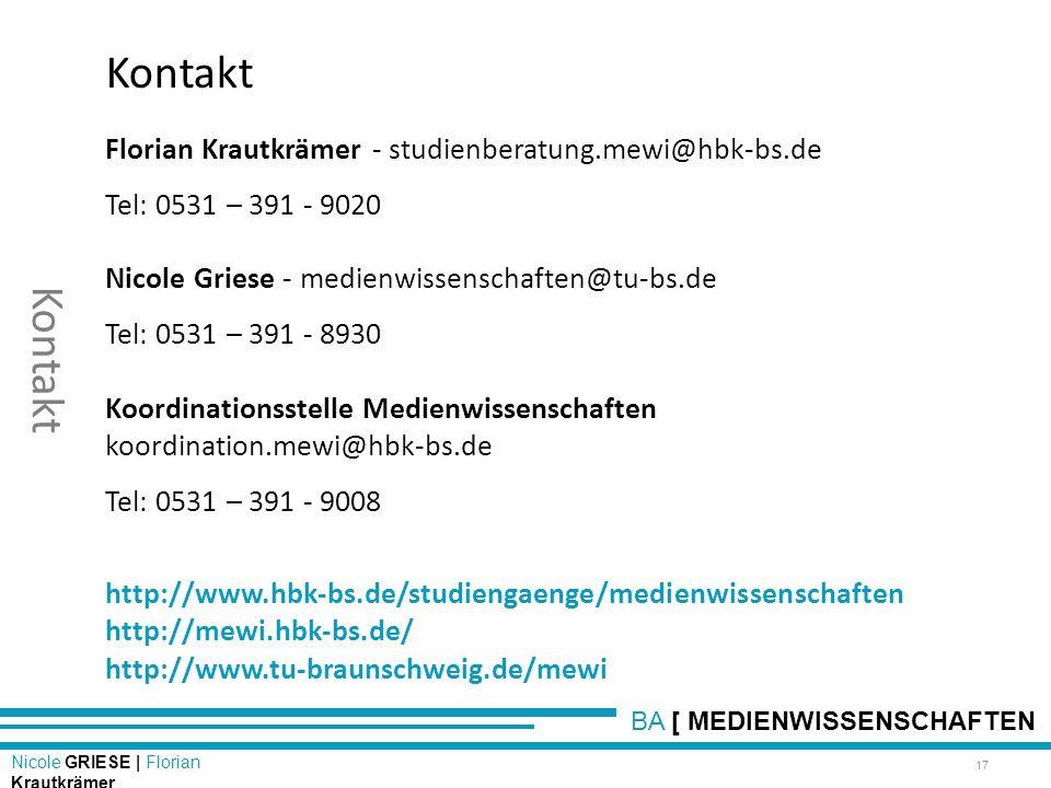 Florian Krautkrämer - studienberatung.mewi@hbk-bs.de