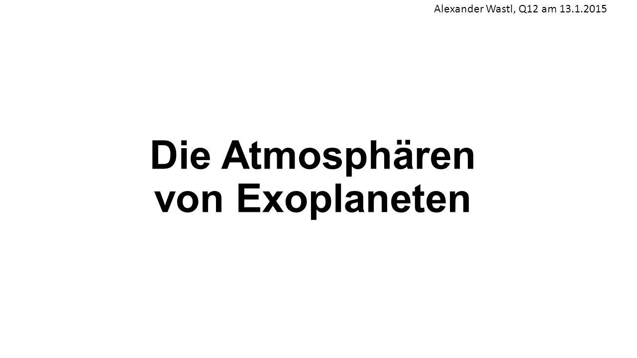 Die Atmosphären von Exoplaneten