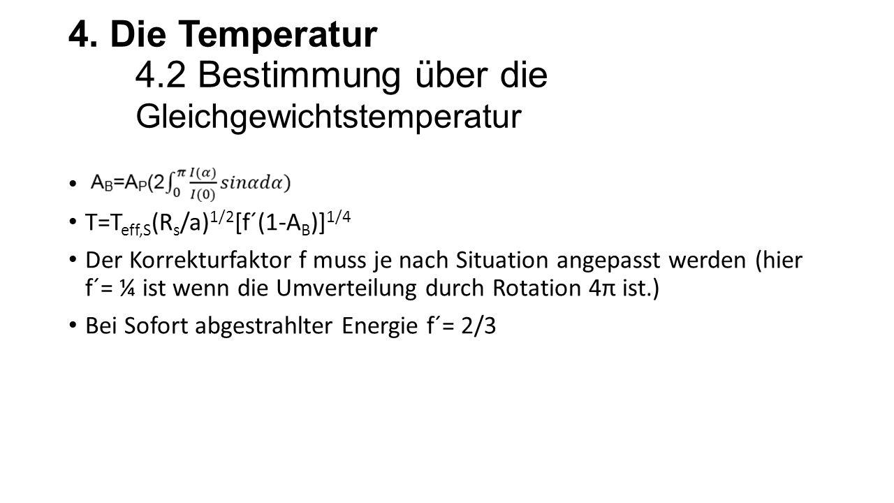 4. Die Temperatur 4.2 Bestimmung über die Gleichgewichtstemperatur