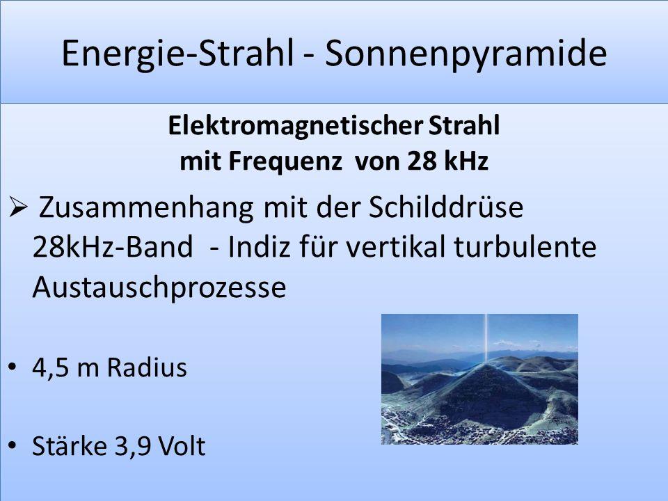 Energie-Strahl - Sonnenpyramide