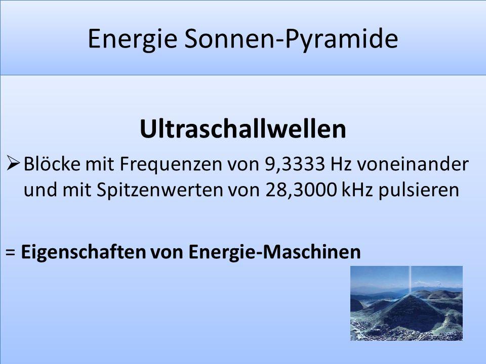 Energie Sonnen-Pyramide
