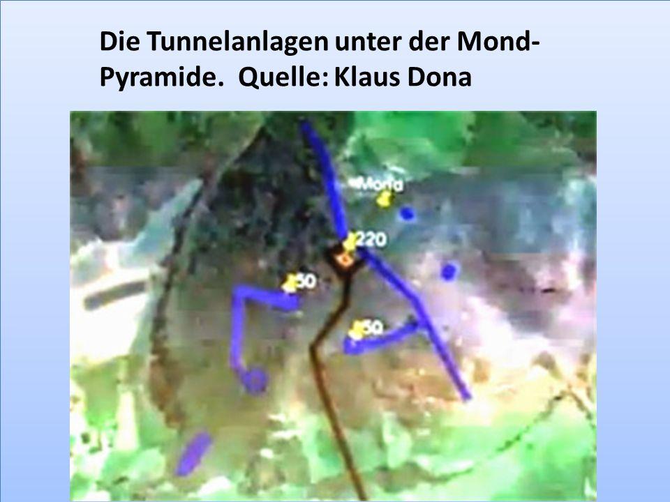 Die Tunnelanlagen unter der Mond-Pyramide. Quelle: Klaus Dona