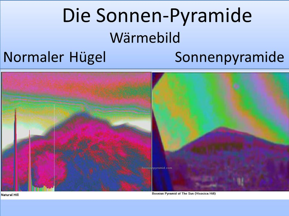Die Sonnen-Pyramide Wärmebild Normaler Hügel Sonnenpyramide