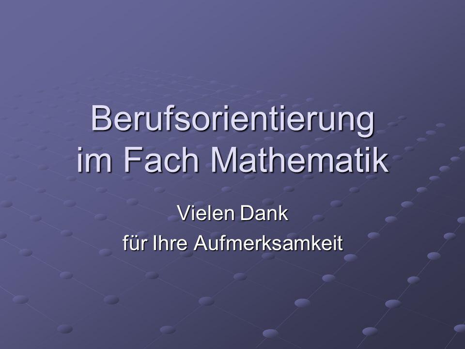 Berufsorientierung im Fach Mathematik