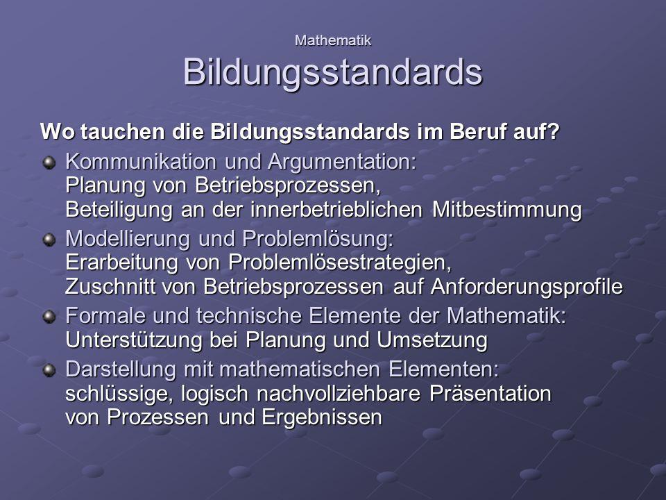 Mathematik Bildungsstandards