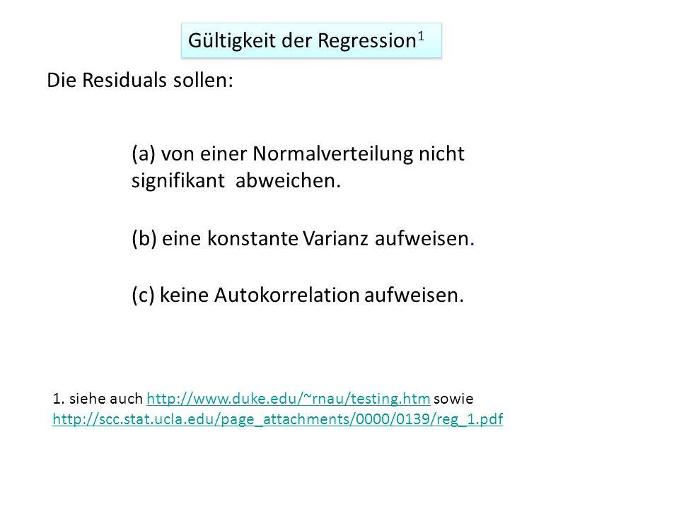 Gültigkeit der Regression1