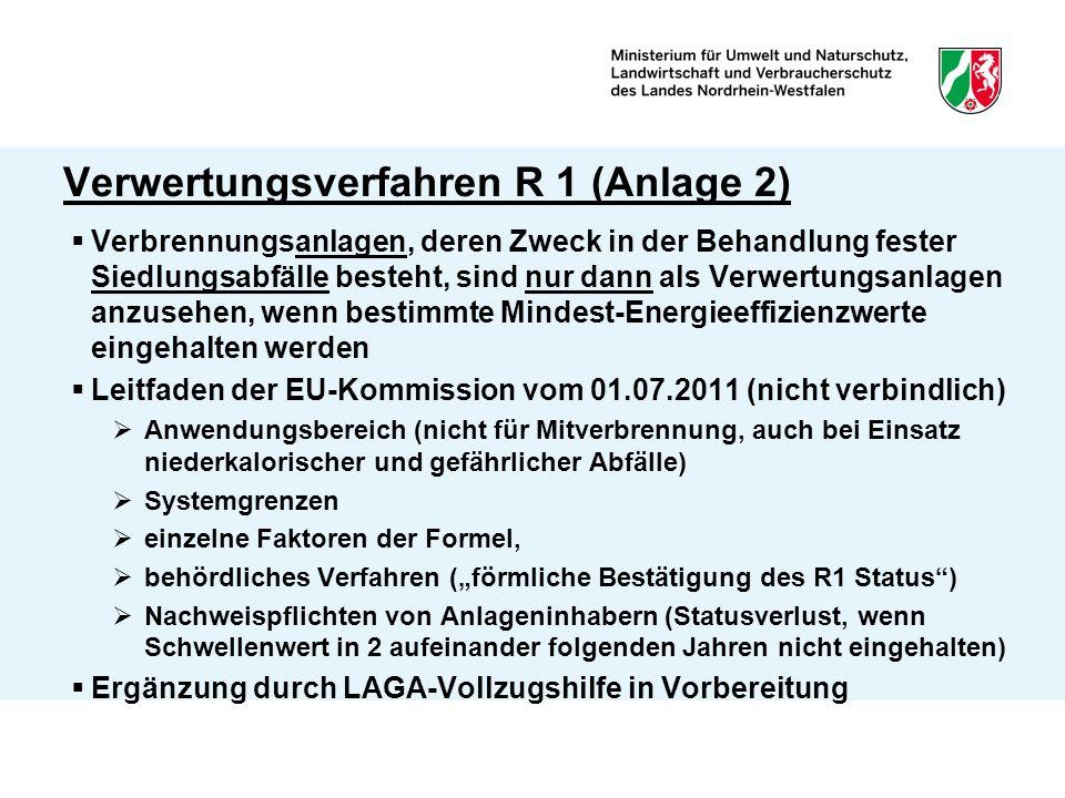 Verwertungsverfahren R 1 (Anlage 2)