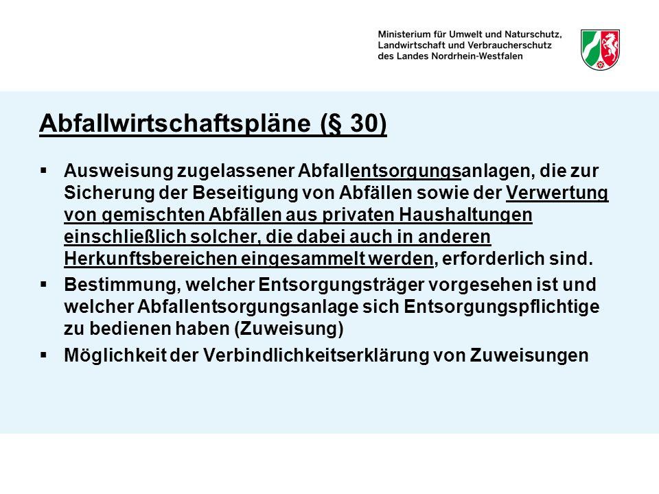 Abfallwirtschaftspläne (§ 30)