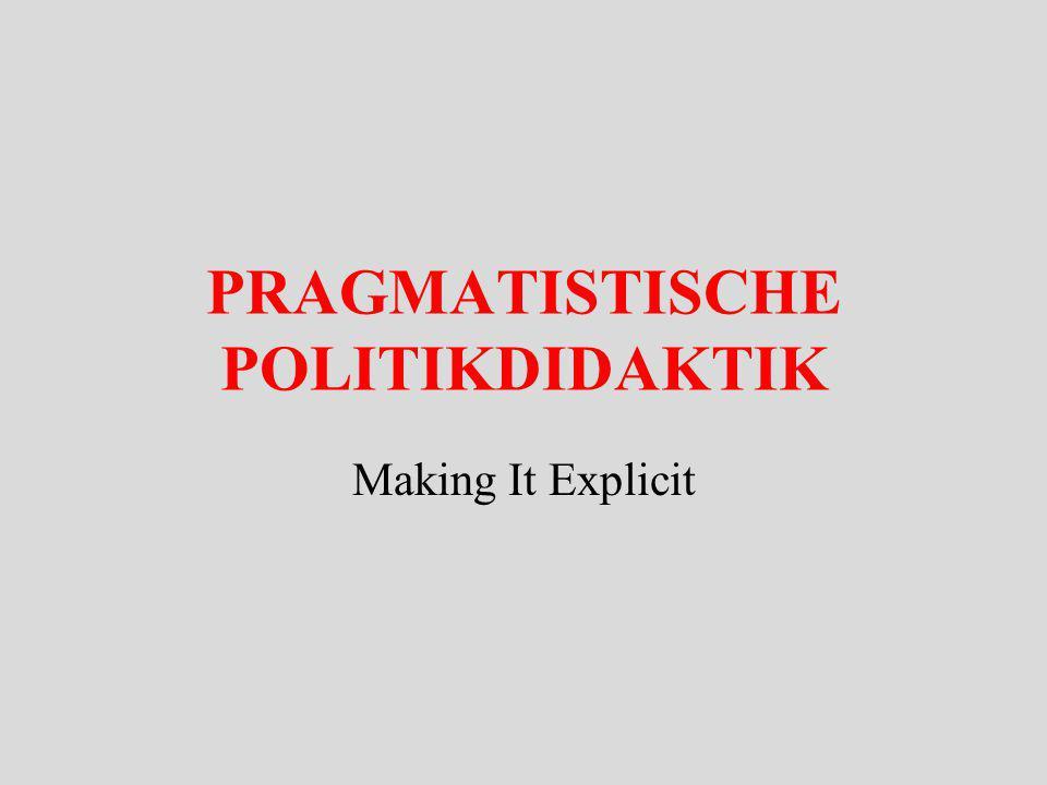 PRAGMATISTISCHE POLITIKDIDAKTIK