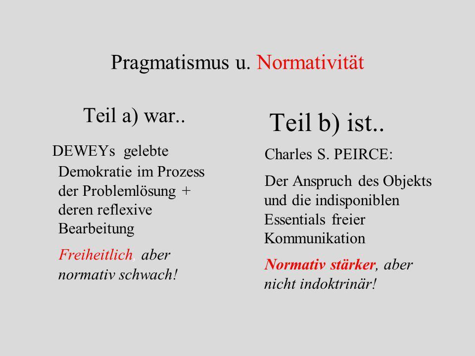 Pragmatismus u. Normativität