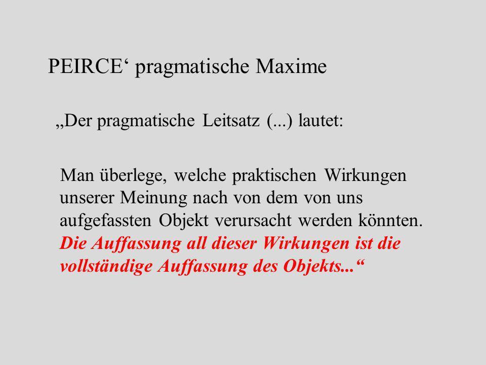 PEIRCE' pragmatische Maxime