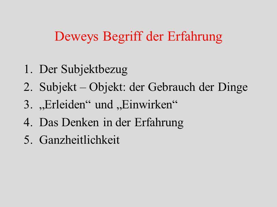 Deweys Begriff der Erfahrung