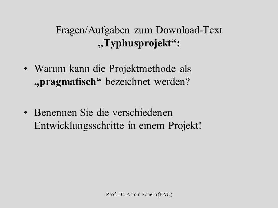 """Fragen/Aufgaben zum Download-Text """"Typhusprojekt :"""