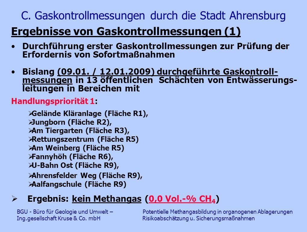 C. Gaskontrollmessungen durch die Stadt Ahrensburg