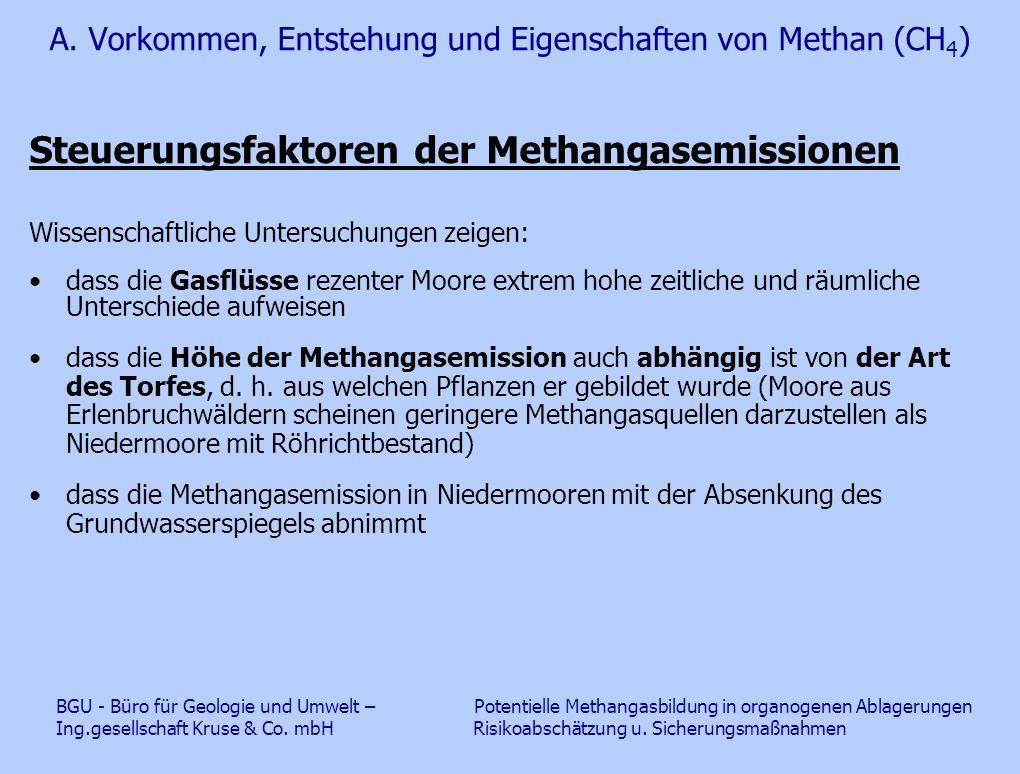 A. Vorkommen, Entstehung und Eigenschaften von Methan (CH4)