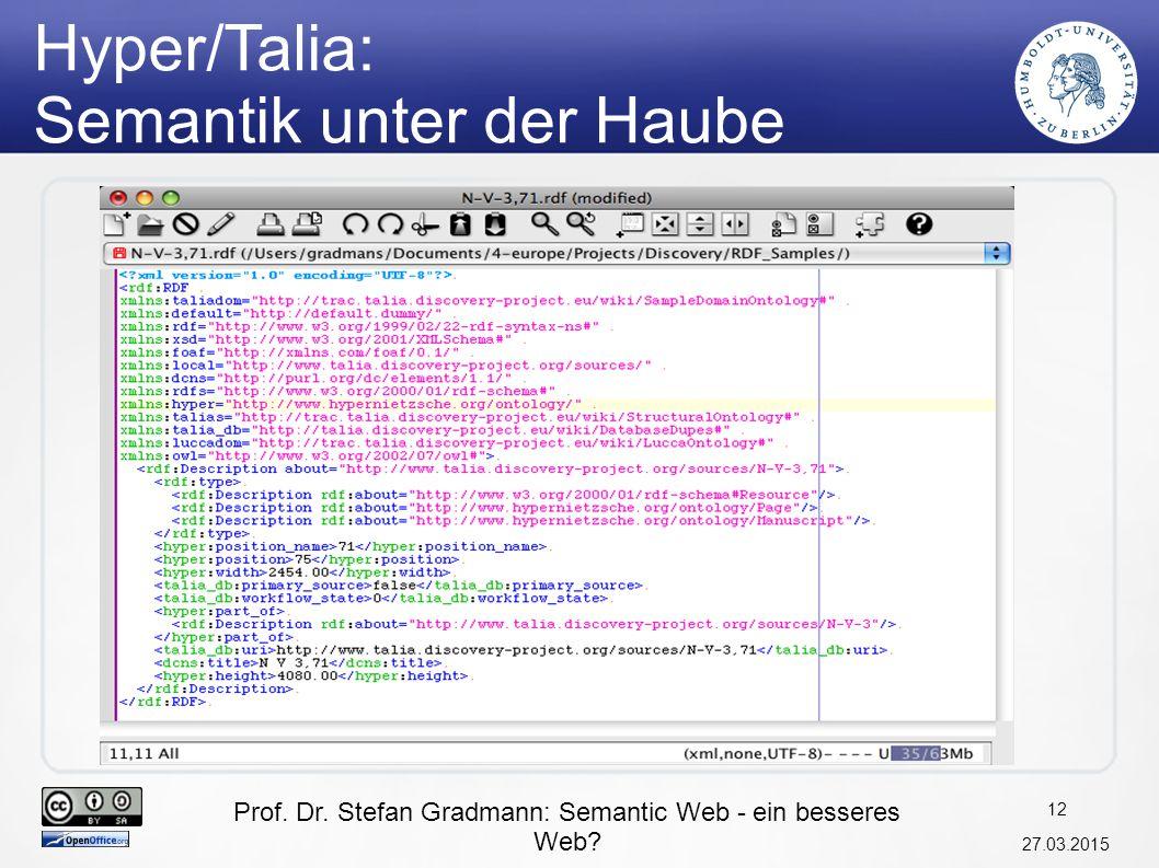 Hyper/Talia: Semantik unter der Haube