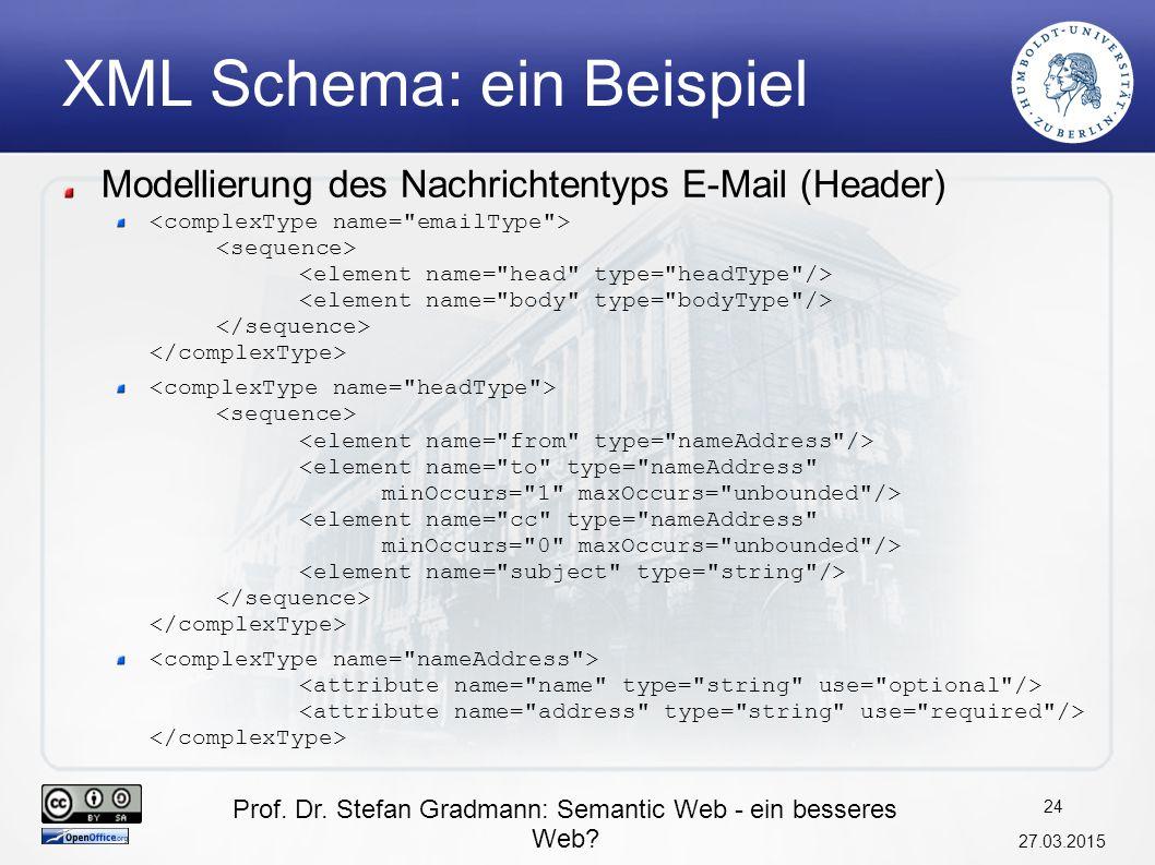 XML Schema: ein Beispiel
