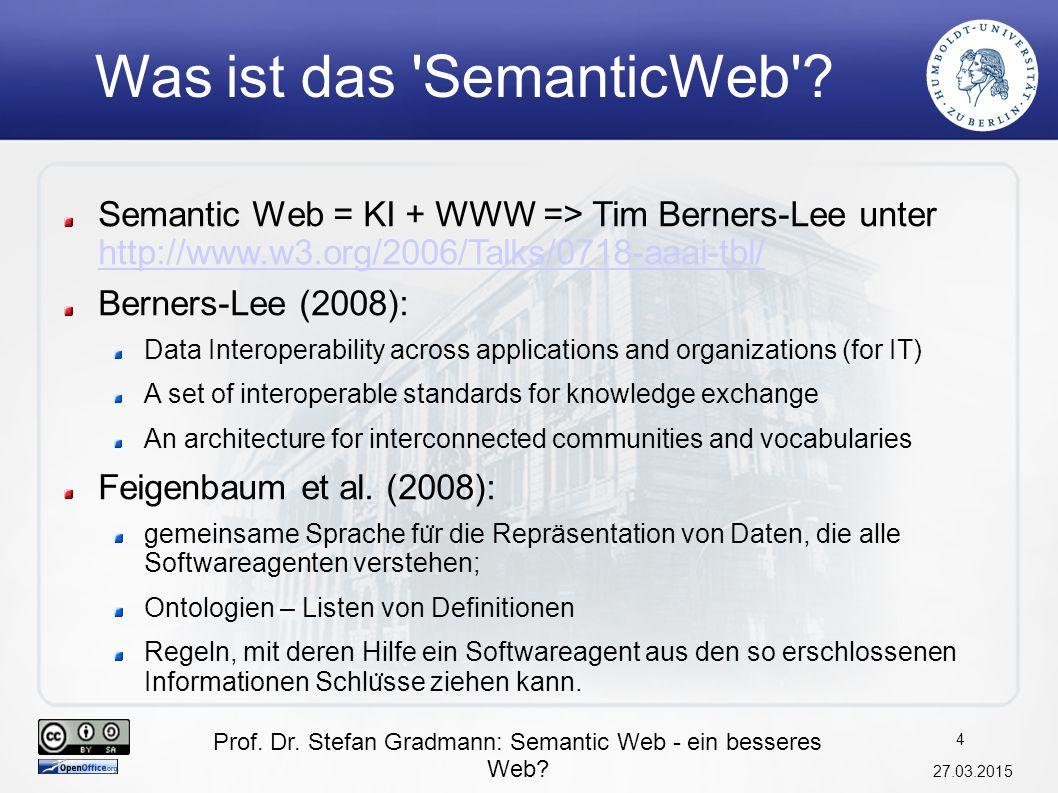 Was ist das SemanticWeb