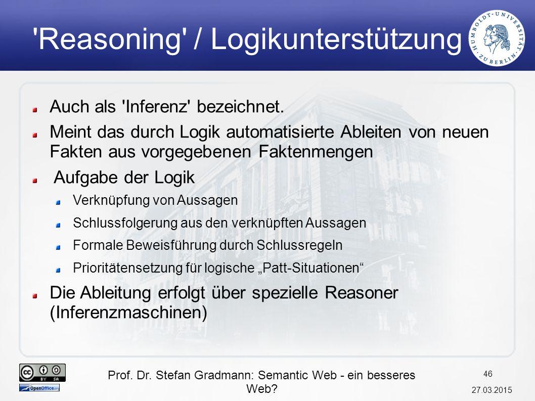 Reasoning / Logikunterstützung